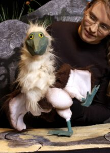 Blue Footed Booby Bird - Galapagos George by Barefoot Puppet Theatre